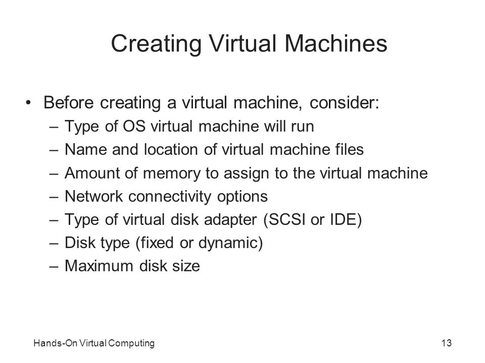 Hands-On Virtual Computing - ppt video online download