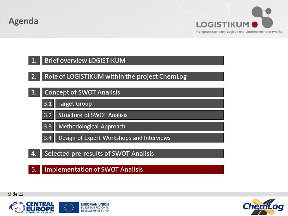 Agenda 1. Brief overview LOGISTIKUM 2.