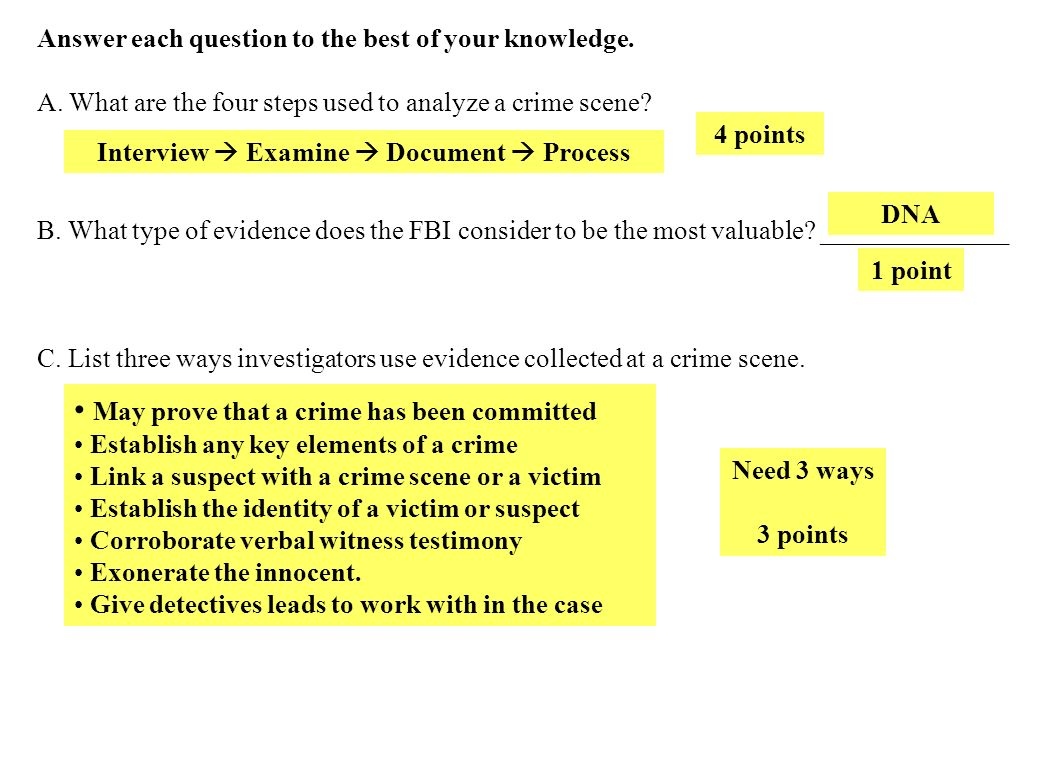 Unit 1 Review Crime Scene Basics Eyewitness Basics Ppt Download