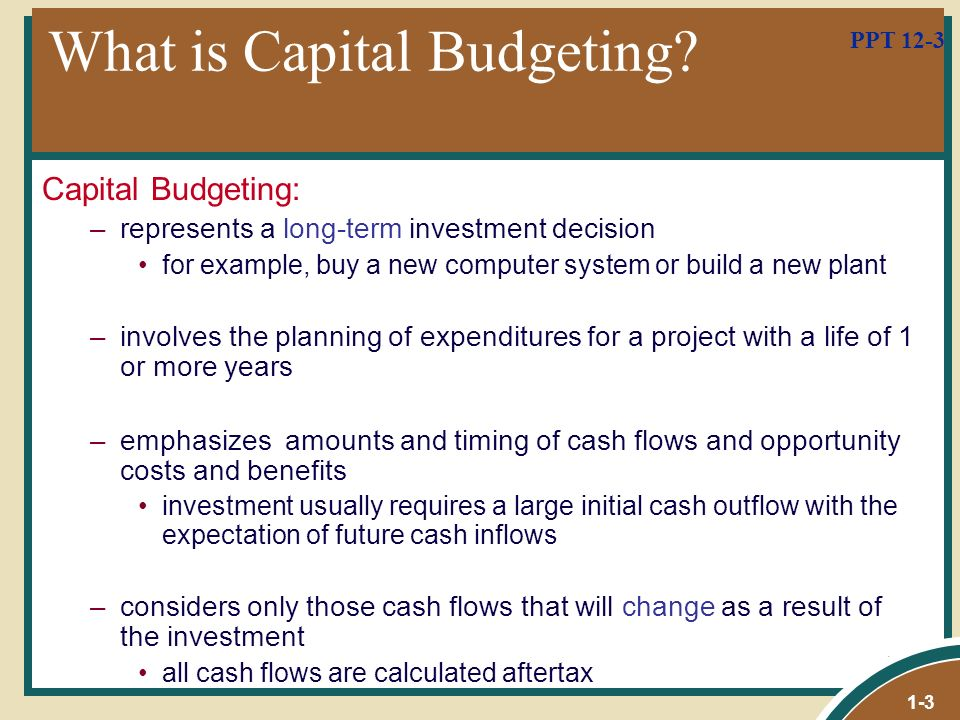 capital budgeting powerpoint presentation