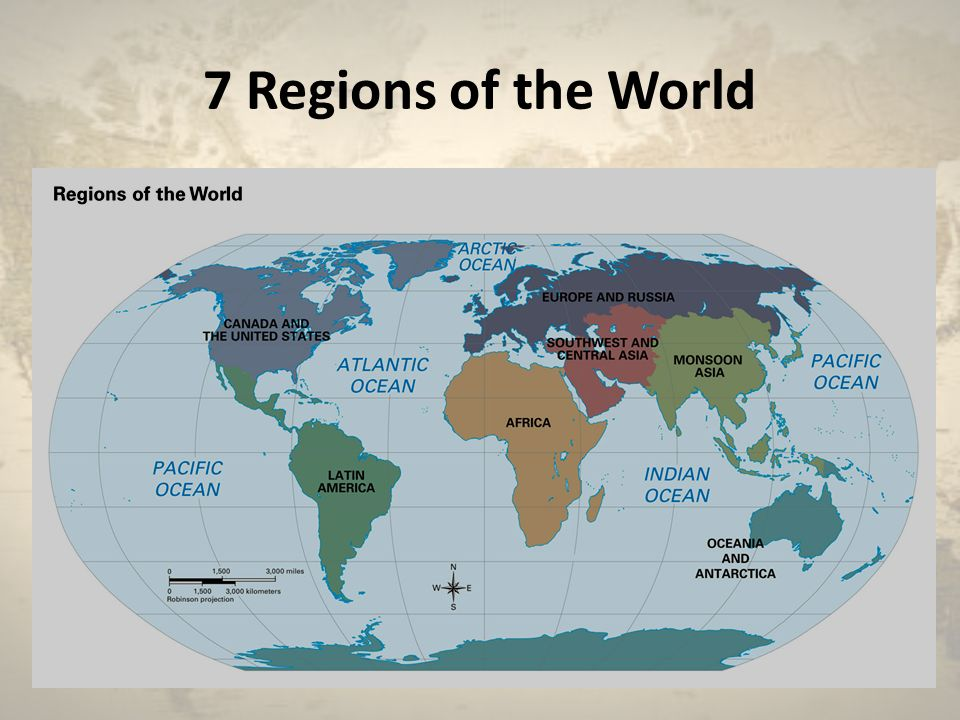 7 Regions of the World