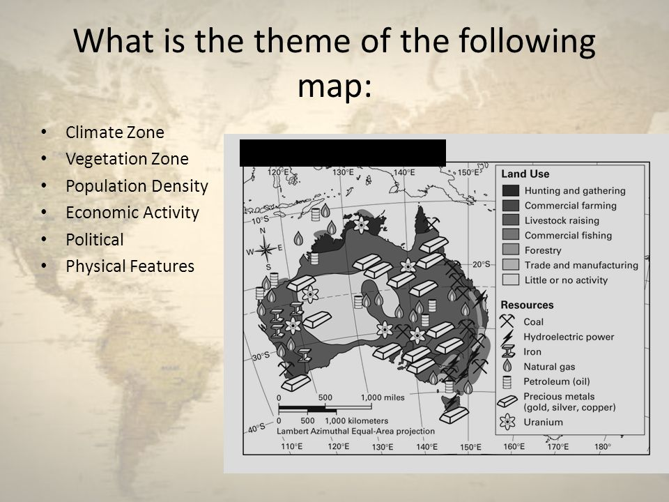 What is the theme of the following map: