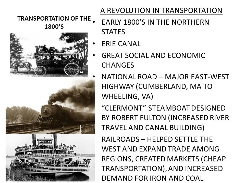 TRANSPORTATION OF THE 1800'S