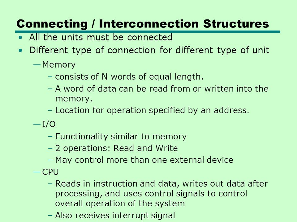 Connecting / Interconnection Structures