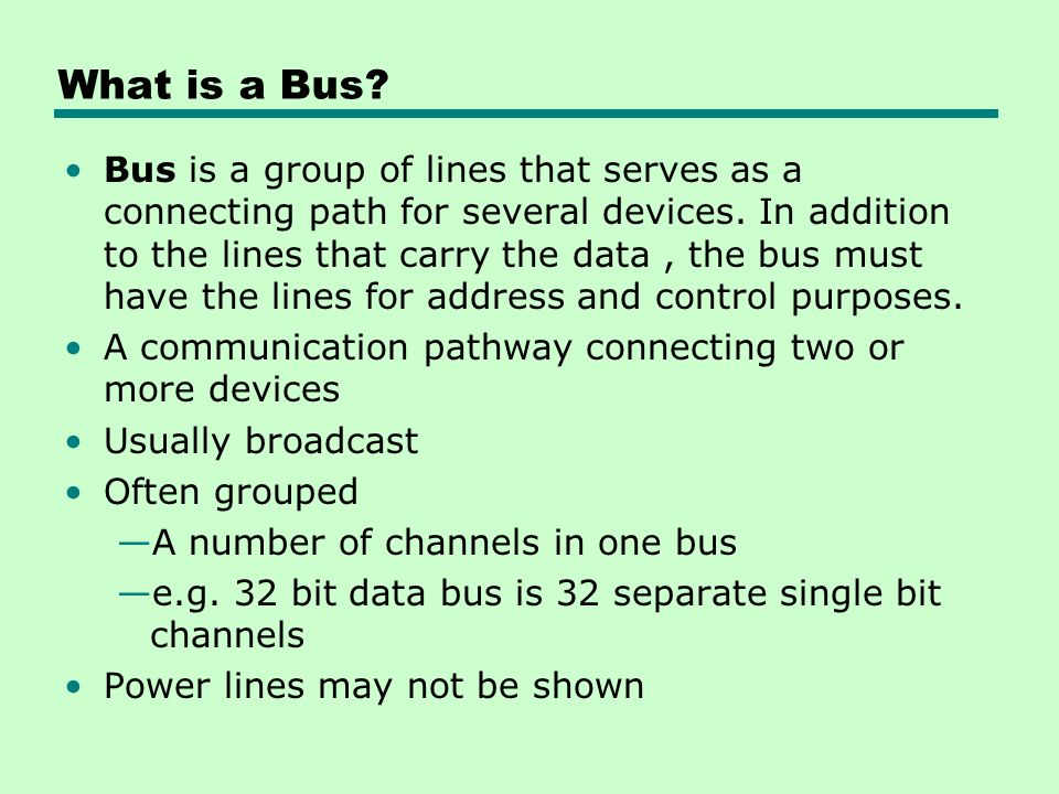 What is a Bus