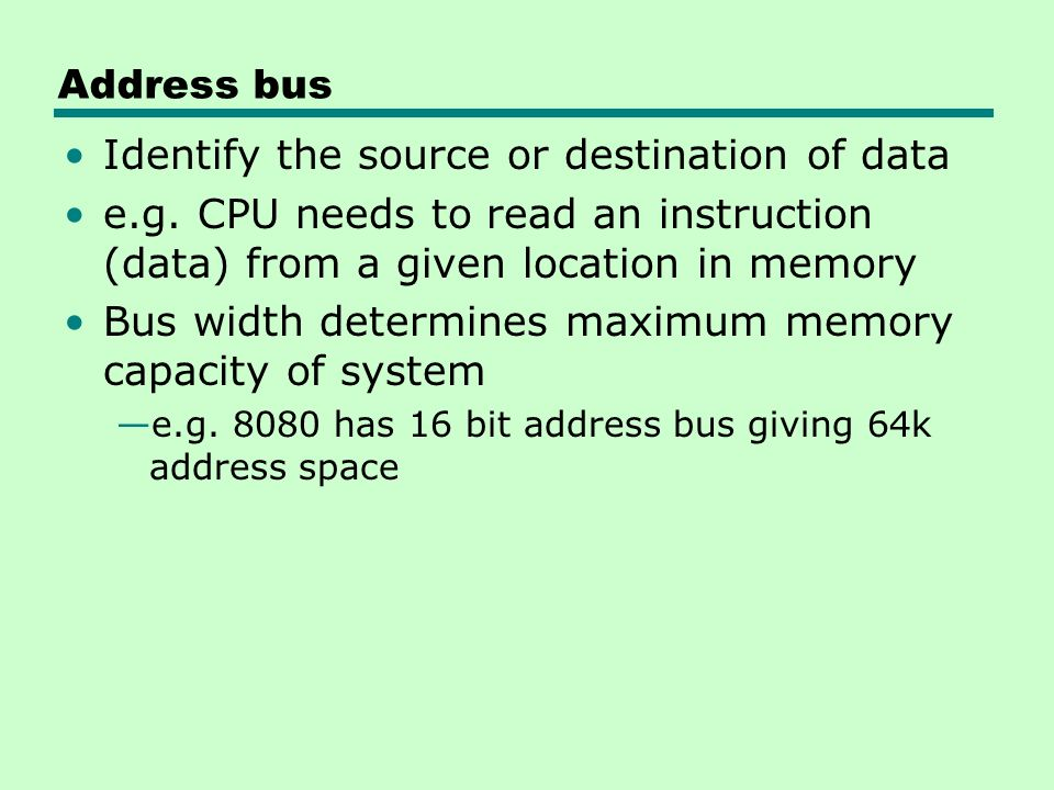 Identify the source or destination of data