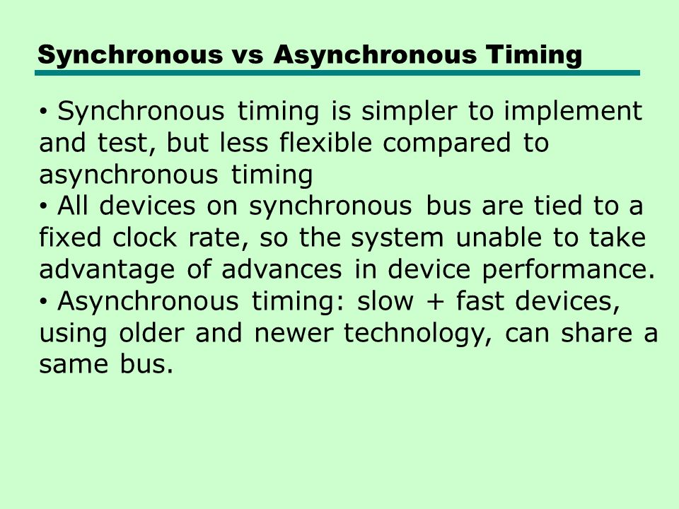 Synchronous vs Asynchronous Timing