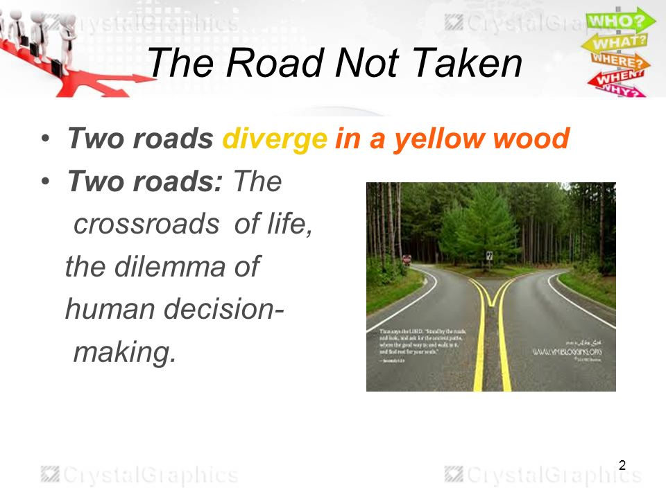 The Road Not Taken By Jessica Li