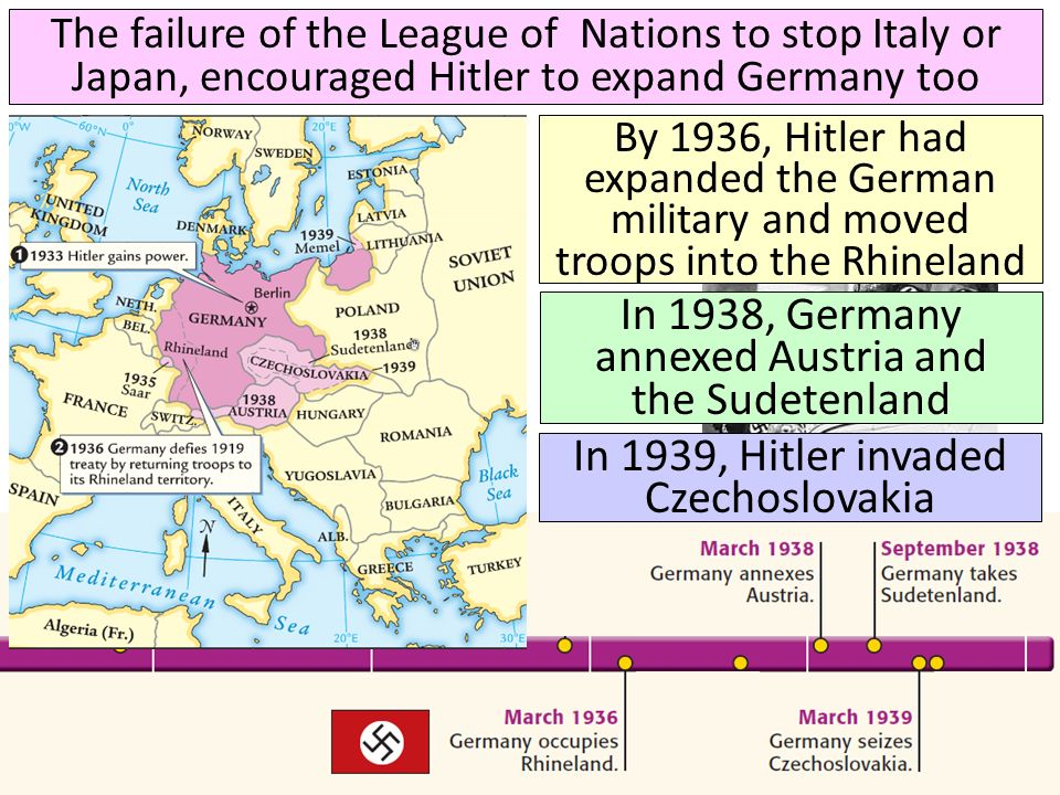In 1938, Germany annexed Austria and the Sudetenland