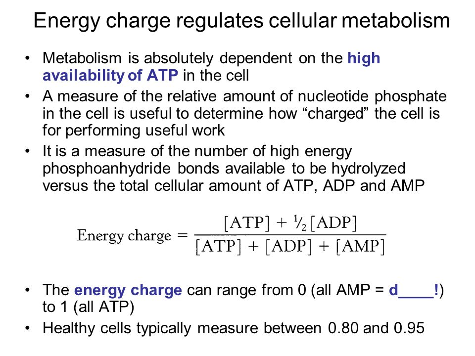 Energy Charge Regulates Cellular Metabolism