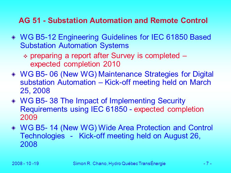 AG 51 - Substation Automation and Remote Control
