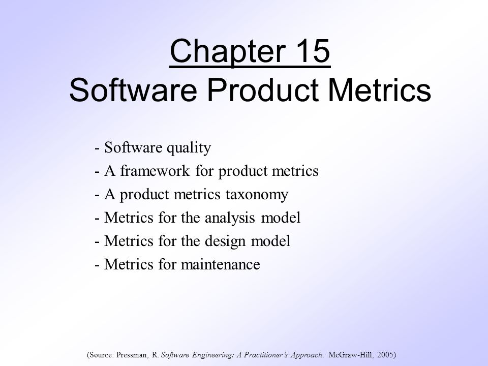 Chapter 15 Software Product Metrics Ppt Download