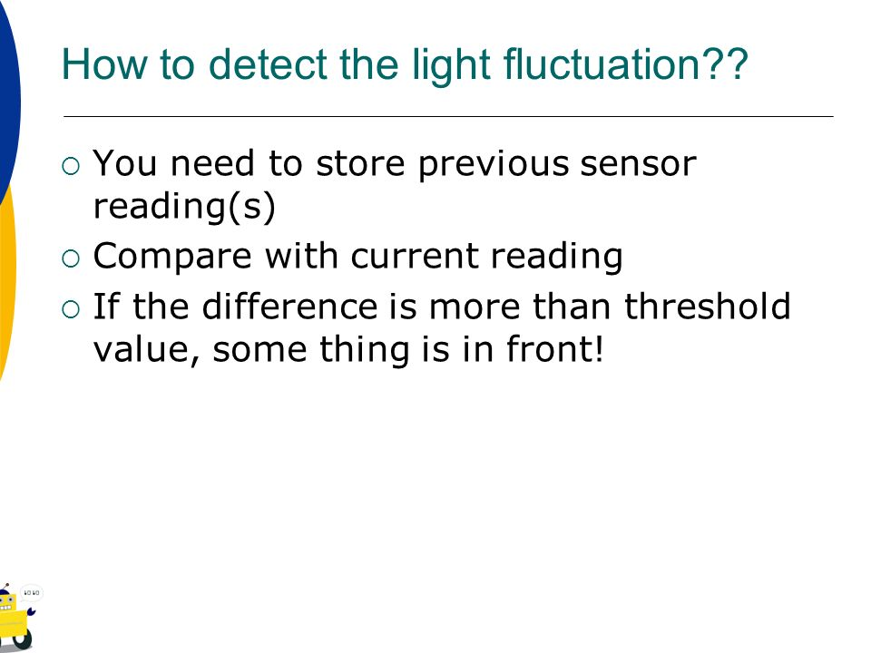 How to detect the light fluctuation