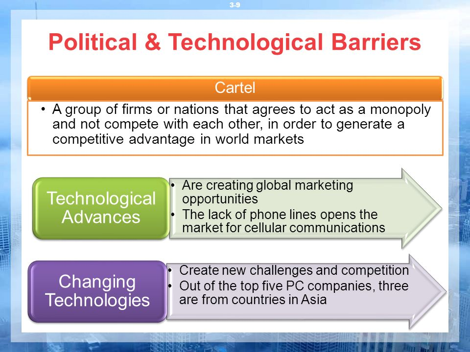 Political & Technological Barriers
