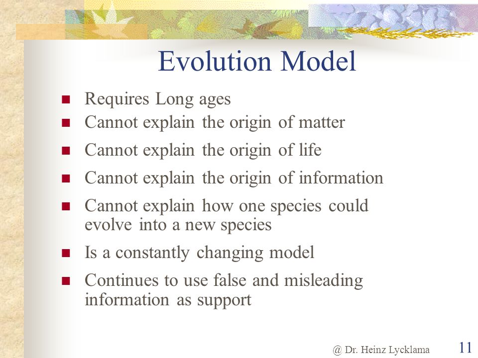 Evolution Model Requires Long ages Cannot explain the origin of matter
