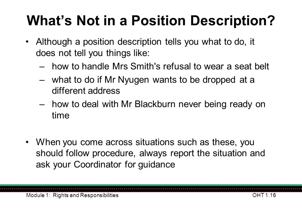 What's Not in a Position Description