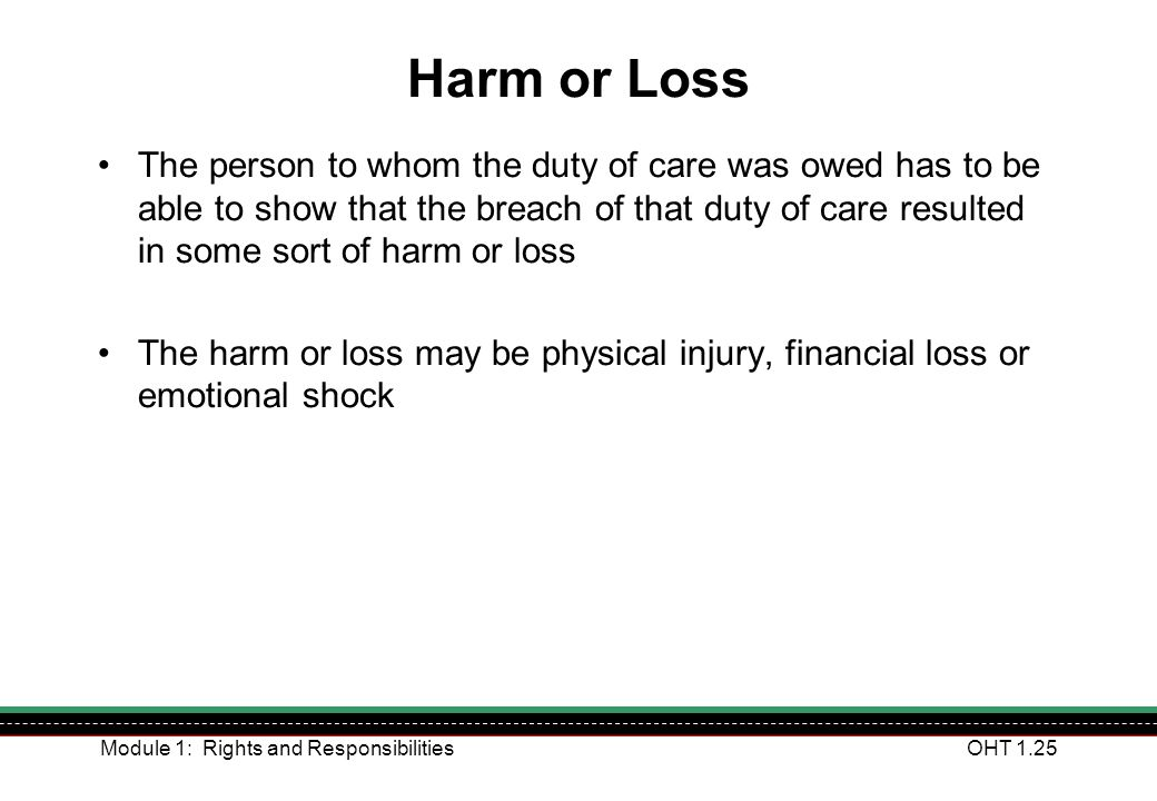 Harm or Loss