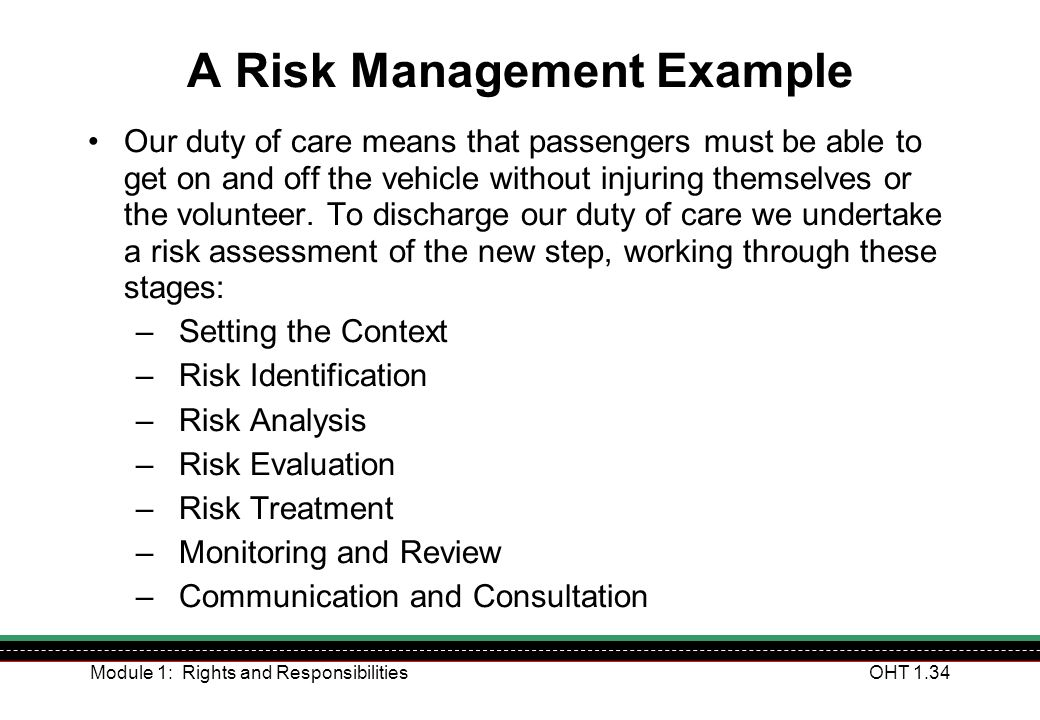 A Risk Management Example