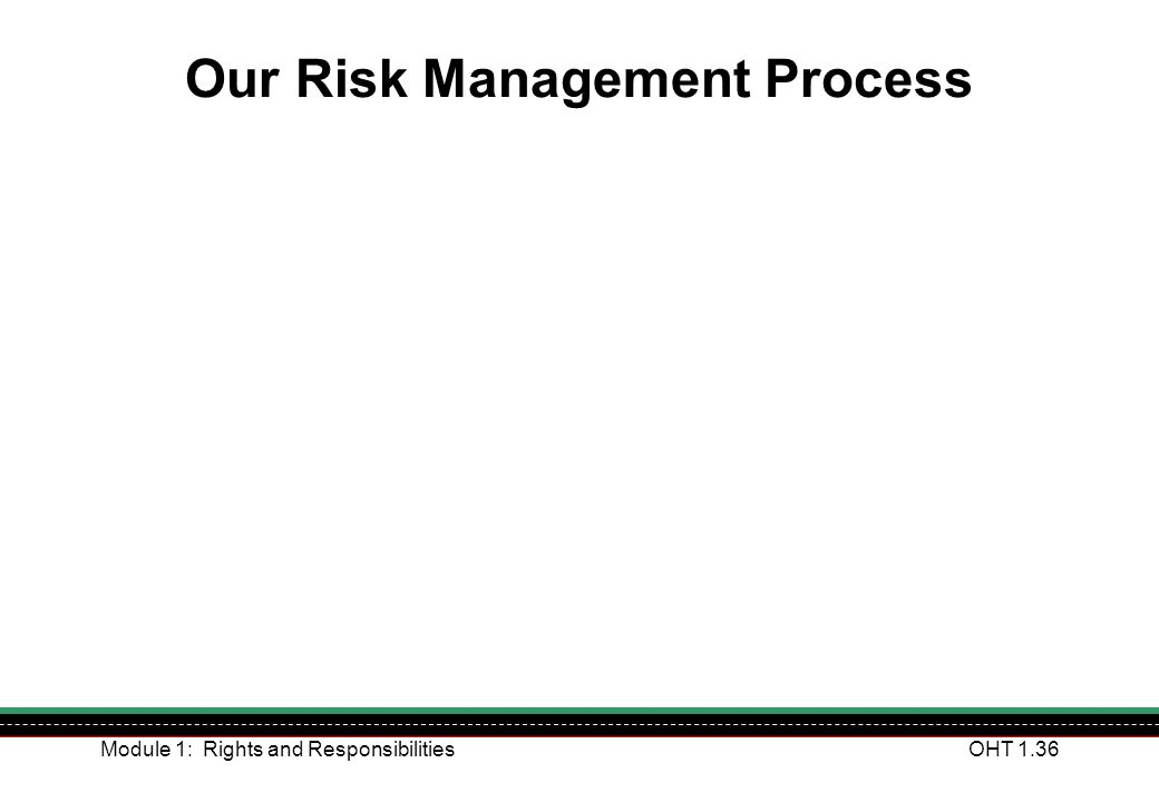 Our Risk Management Process
