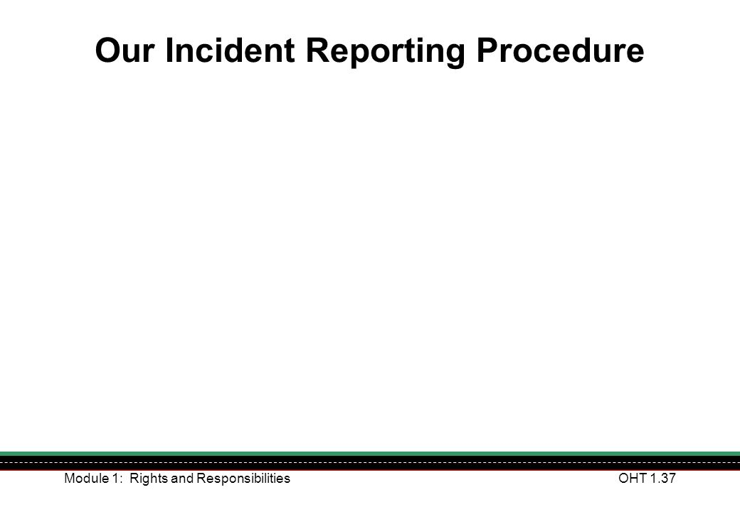 Our Incident Reporting Procedure