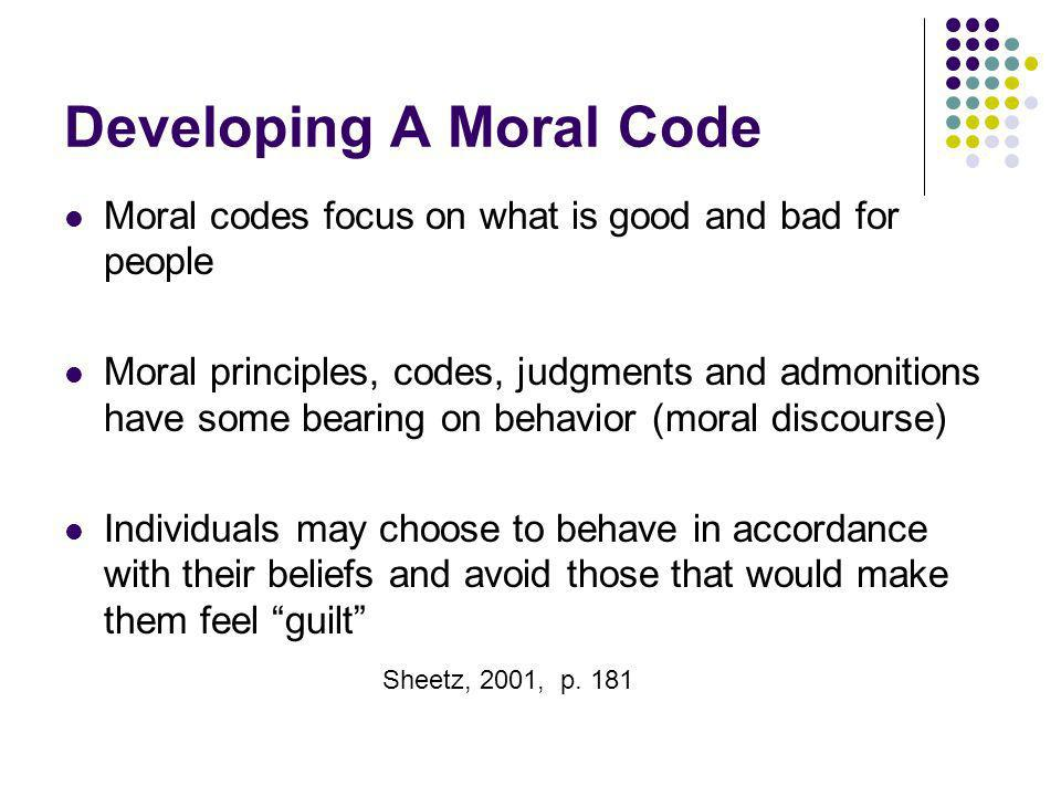 Developing A Moral Code