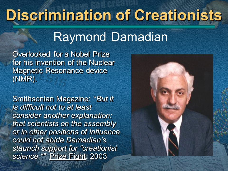 Discrimination of Creationists