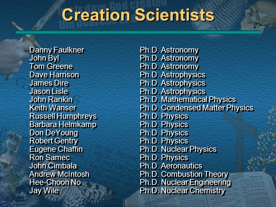 Creation Scientists Danny Faulkner Ph.D. Astronomy