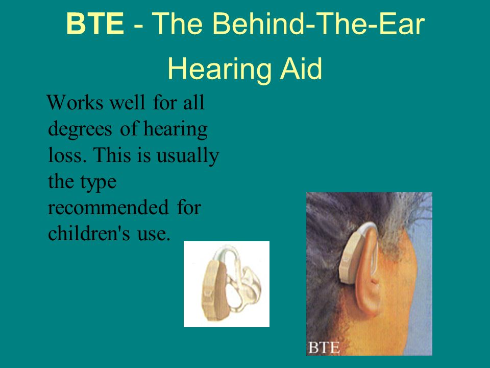BTE - The Behind-The-Ear Hearing Aid