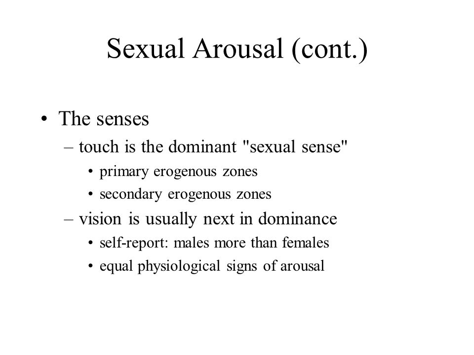 signs of sexual arousal in males