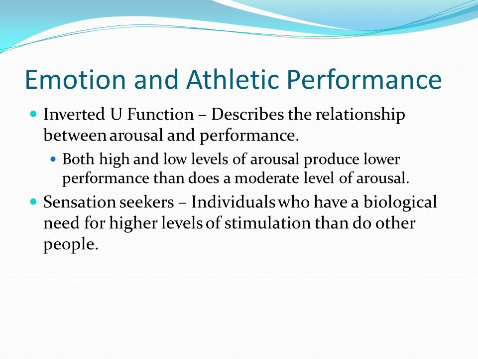 Emotion and Athletic Performance