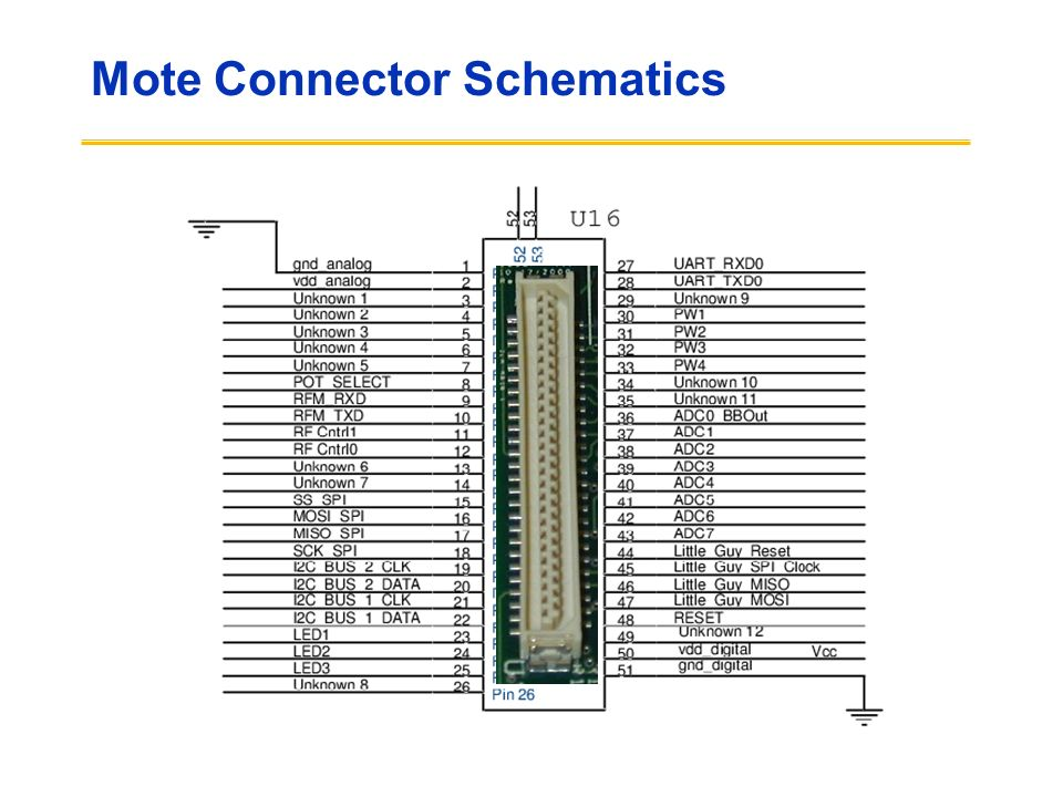 Mote Connector Schematics