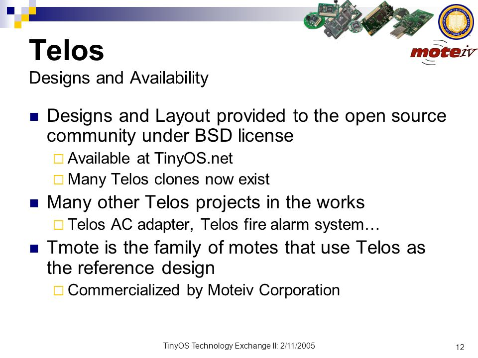 Telos Designs and Availability