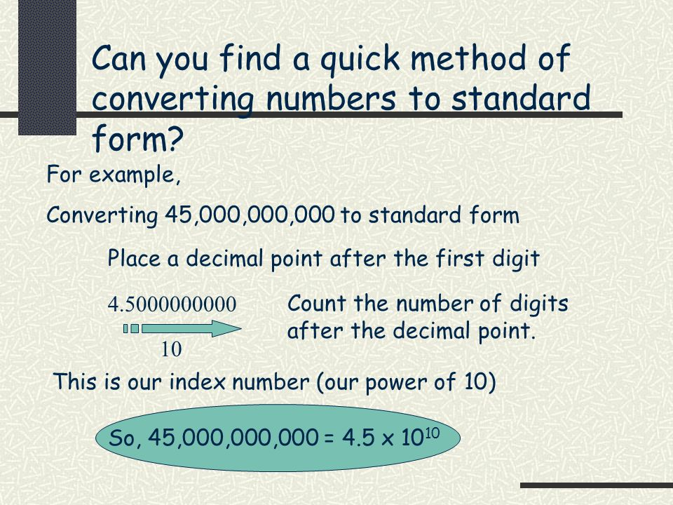 How To Convert Numbers To Standard Form Choice Image Free Form