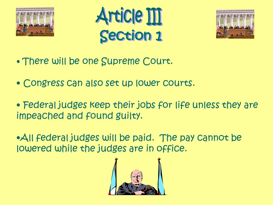 Article III Section 1 Congress can also set up lower courts.