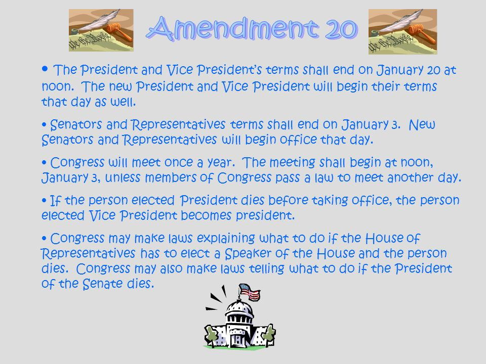 Amendment 20