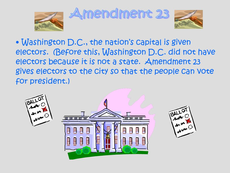 Amendment 23