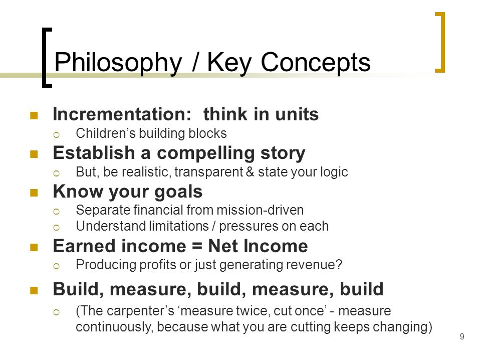 Philosophy / Key Concepts