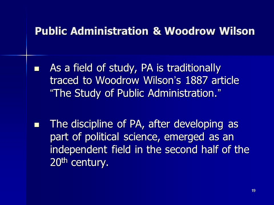 what makes public administration a science