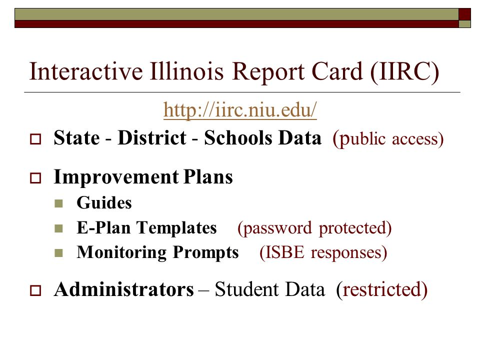 Interactive Illinois Report Card (IIRC)