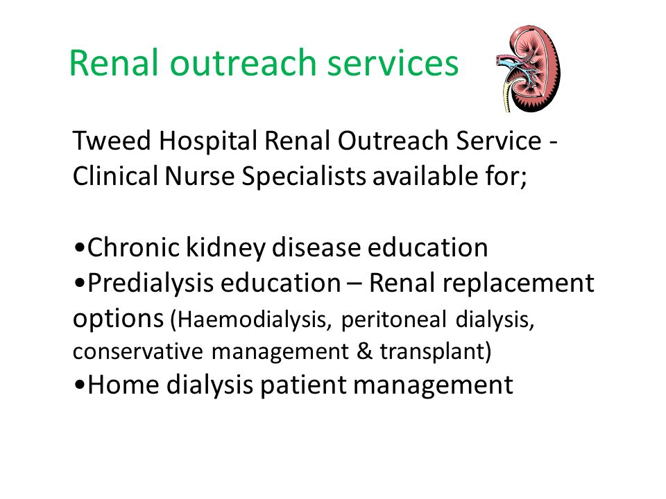 Renal outreach services