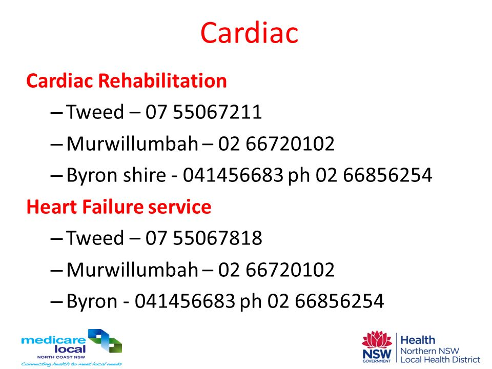 Cardiac Cardiac Rehabilitation Tweed – 07 55067211