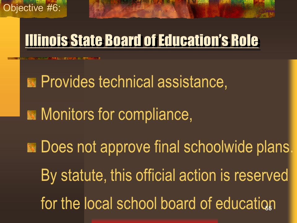 Illinois State Board of Education's Role