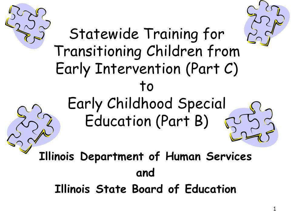 Statewide Training for Transitioning Children from Early Intervention (Part C) to Early Childhood Special Education (Part B)