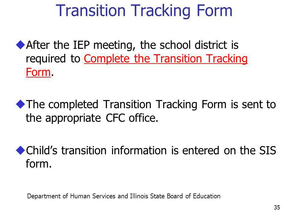 Transition Tracking Form