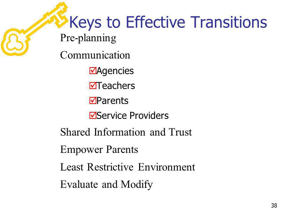 Keys to Effective Transitions