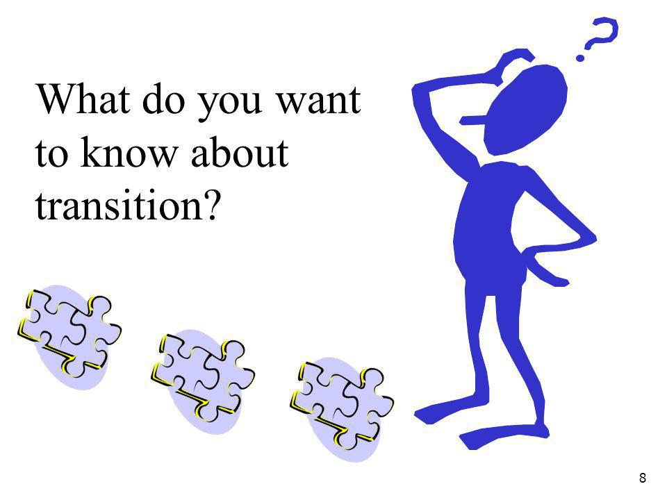 What do you want to know about transition