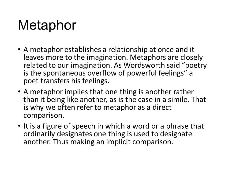 Metaphor and Imagination