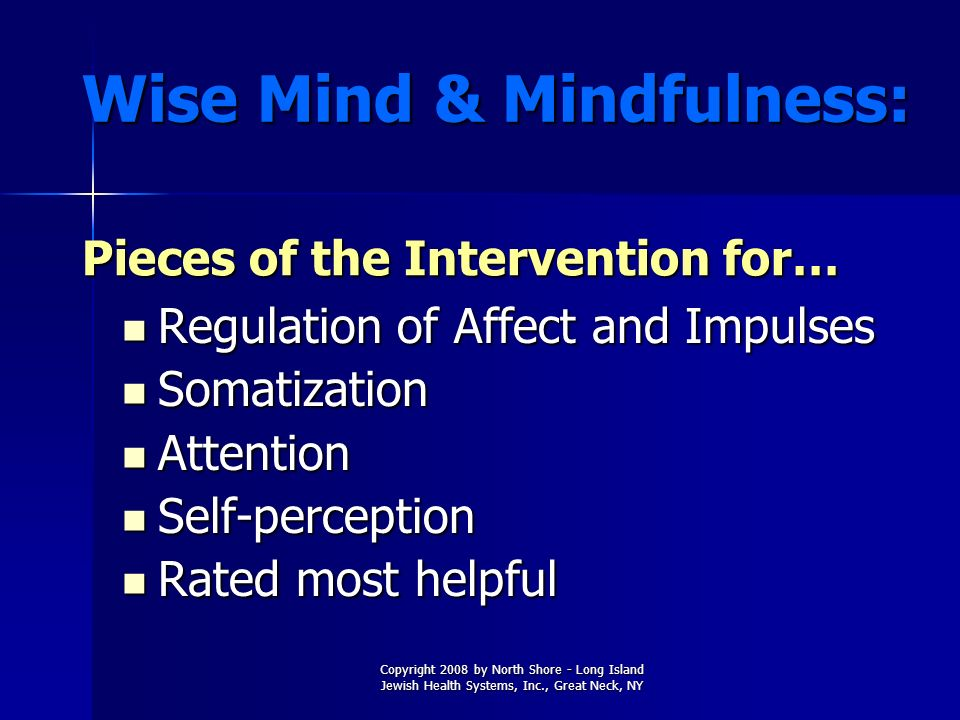 Wise Mind & Mindfulness: