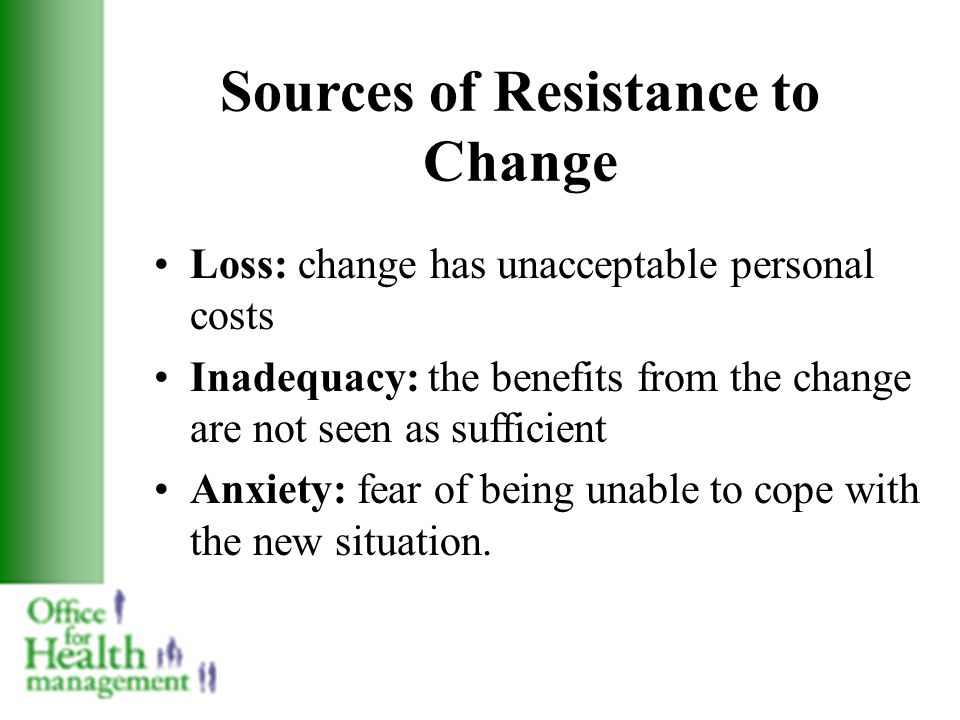 how to deal with resistance to change