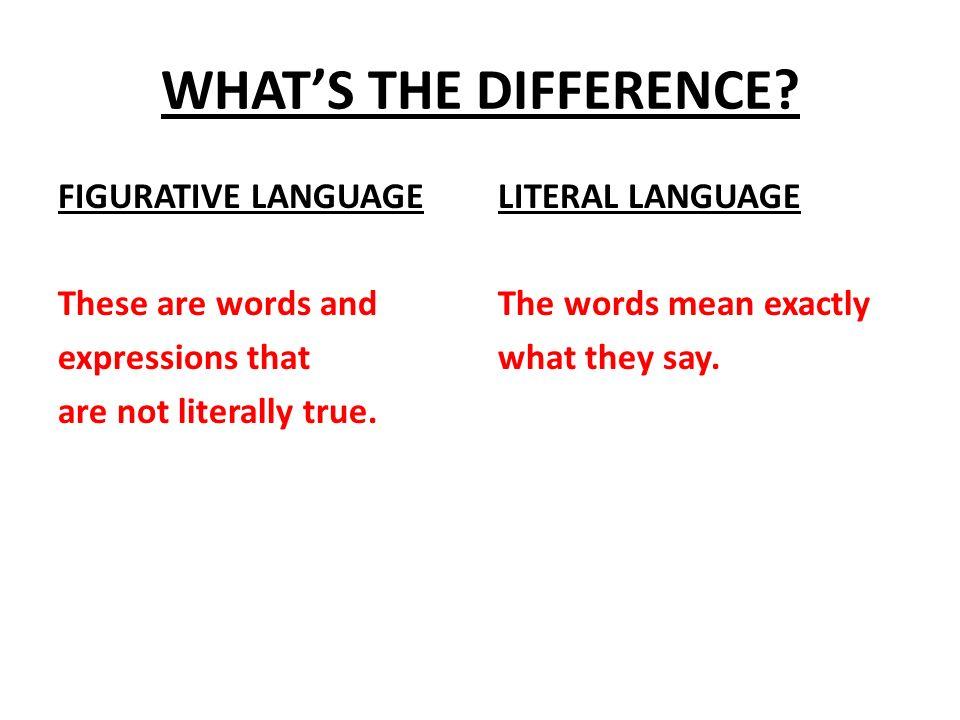 Figurative Vs Literal Language Ppt Video Online Download